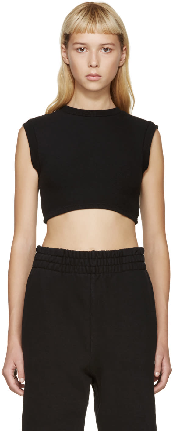 Yeezy Season 1 Black Cropped Tank Top
