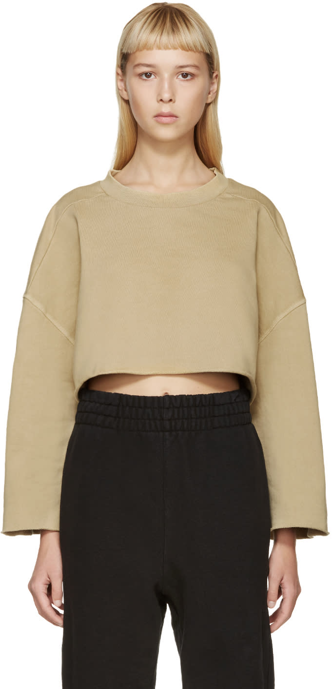 Yeezy Season 1 Beige Cut-off Pullover