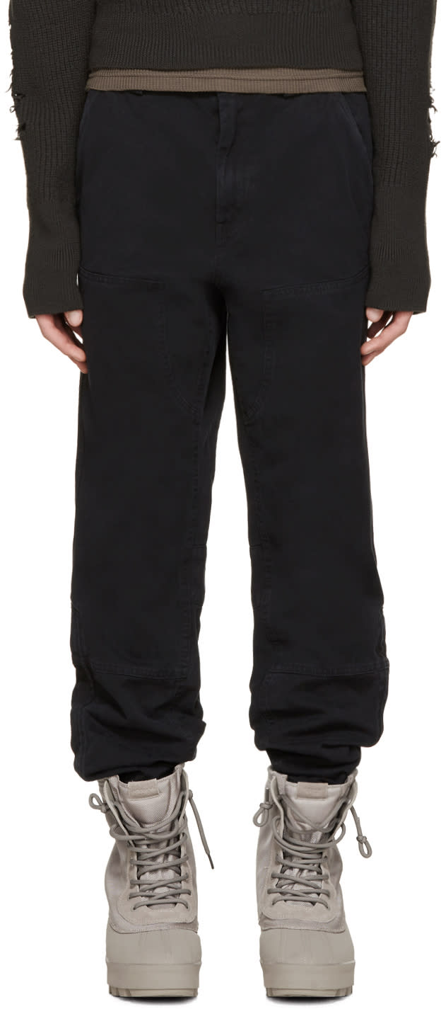 Yeezy Season 1 Black Twill Worker Pants