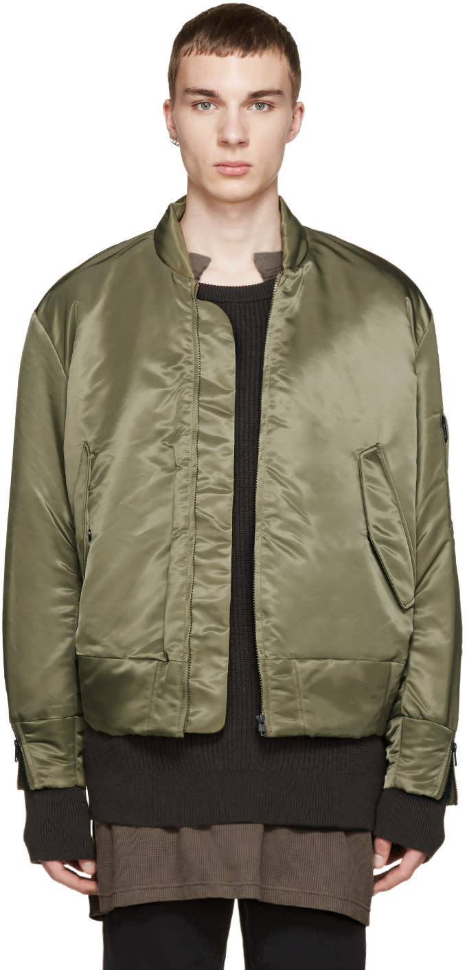 Yeezy Season 1 Green Nylon Bomber Jacket