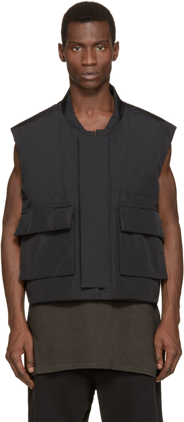 Yeezy Season 1 Black Nylon Vest