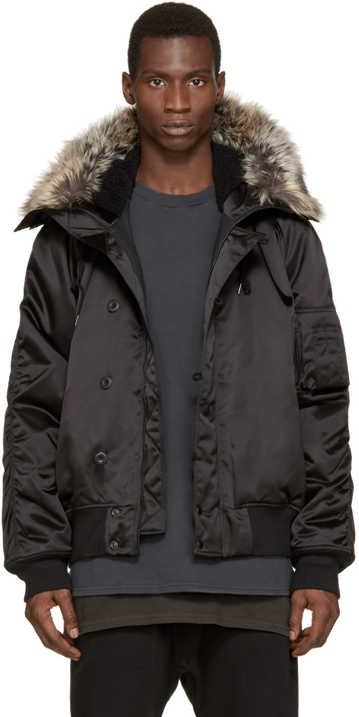 Yeezy Season 1 Black Faux-fur Bomber Jacket