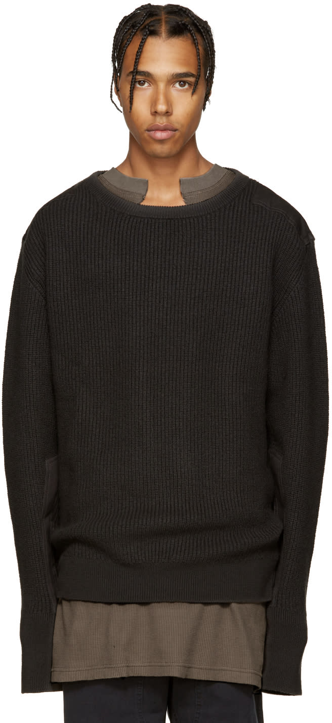 Yeezy Season 1 Grey Wool Undestroyed Sweater