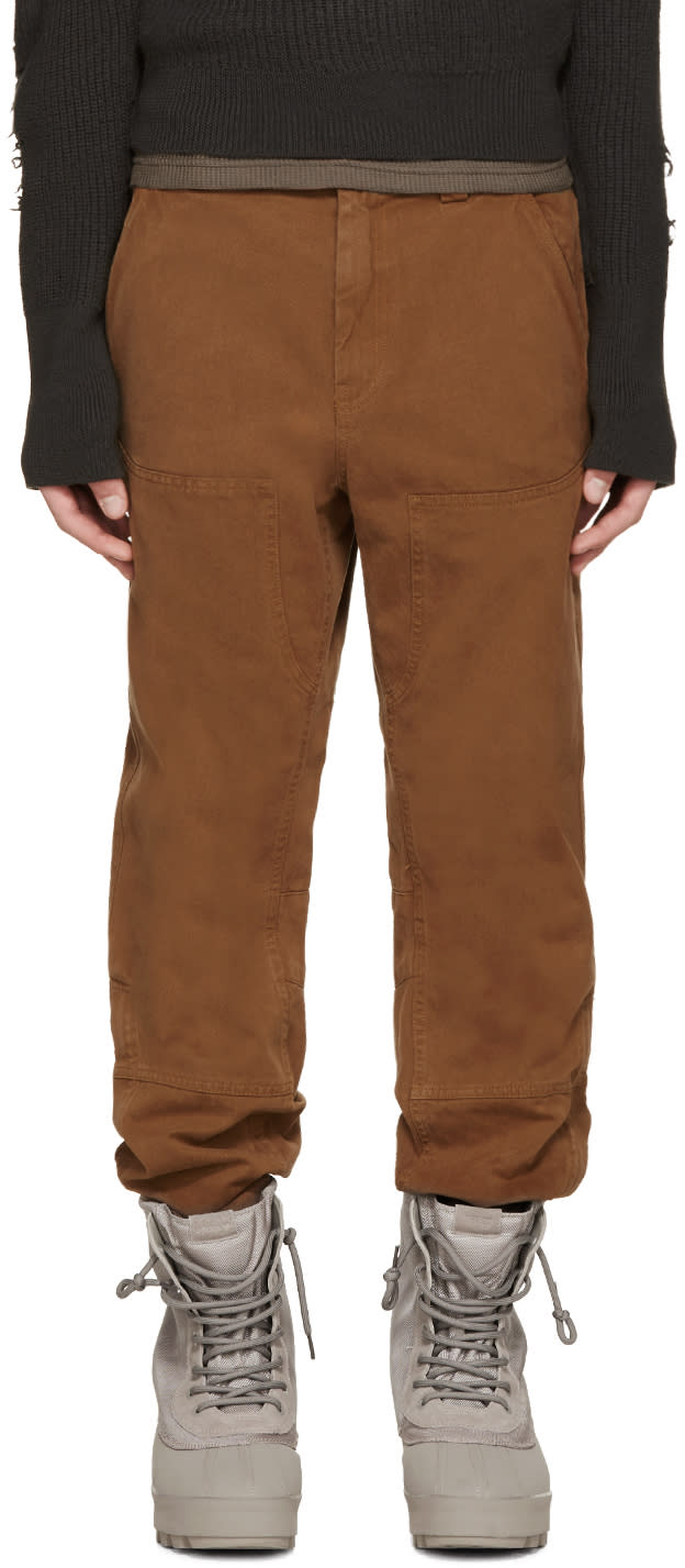 Yeezy Season 1 Camel Twill Worker Jeans