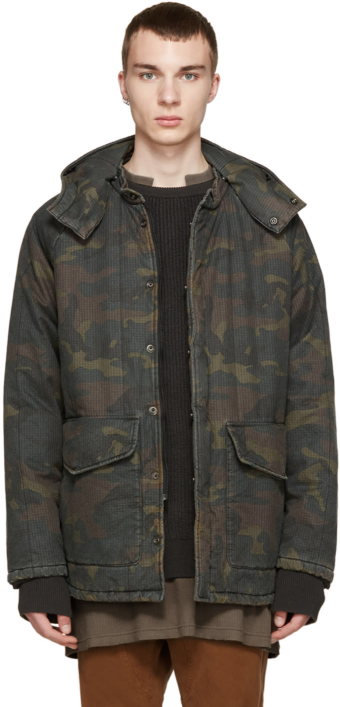 Yeezy Season 1 Brown and Green Camouflage Coat