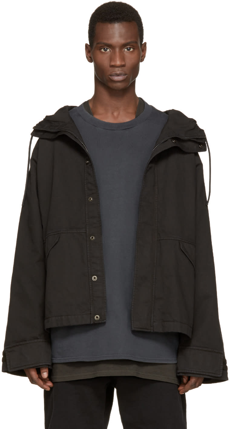 Yeezy Season 1 Black Hooded Jacket