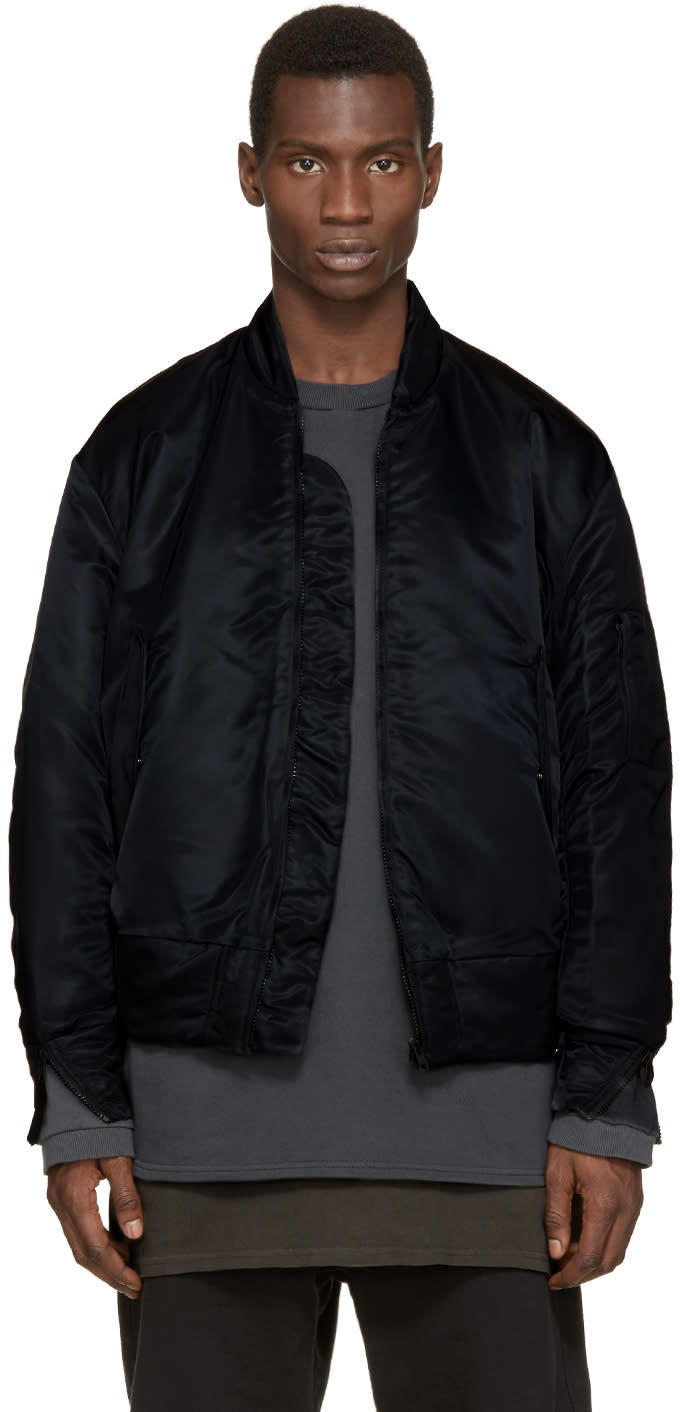 Yeezy Season 1 Black Nylon Bomber Jacket