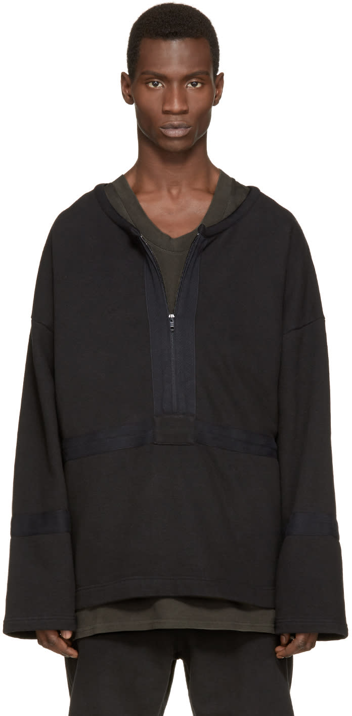 Yeezy Season 1 Black Military Half Zip Pullover