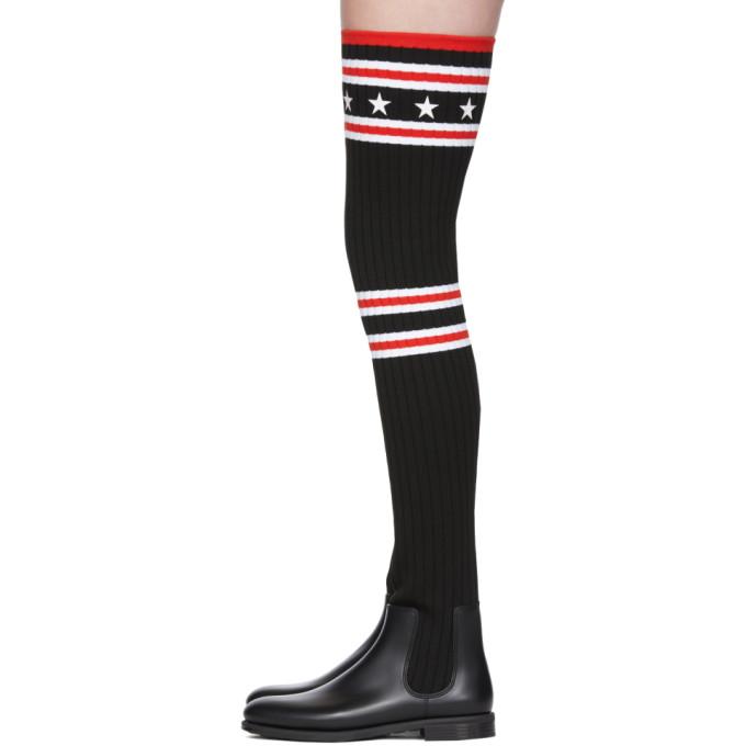 Storm 橡胶罗纹针织过膝超长袜靴展示图