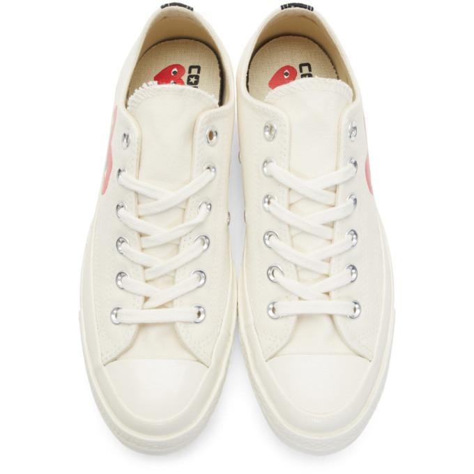 Shop Comme Des GarÇOns Play Off White Converse Edition Half