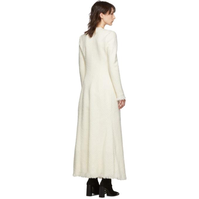 白色粗花呢大衣展示图