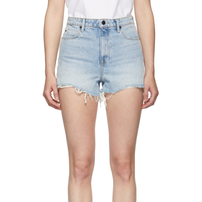 蓝色 Bite 牛仔短裤展示图