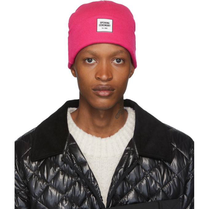Opening Ceremony Pink New Era Edition Logo Beanie In 6673
