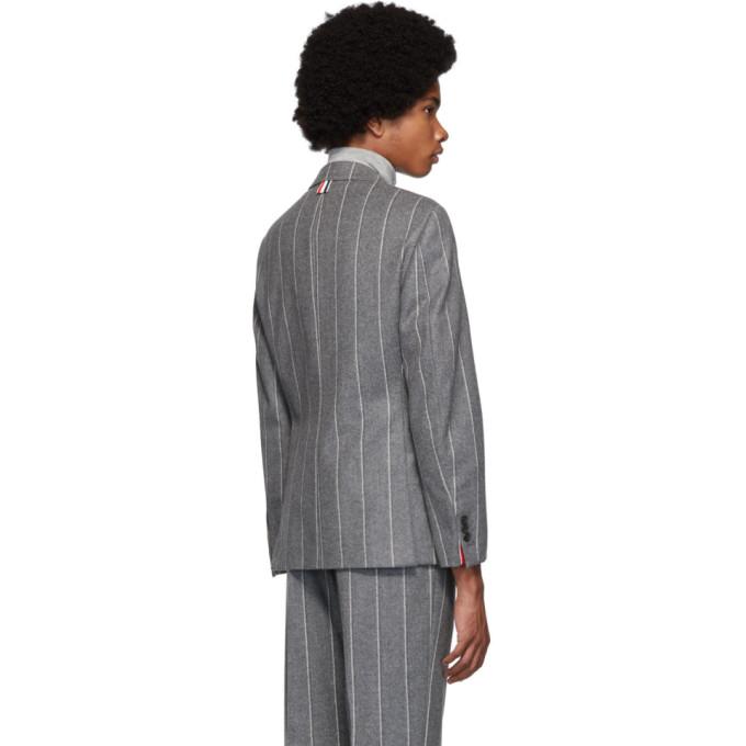 灰色 Sport 经典款条纹西装外套展示图