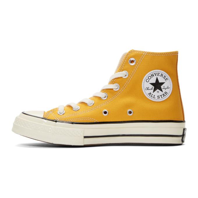 黄色 Chuck 70 高帮运动鞋展示图
