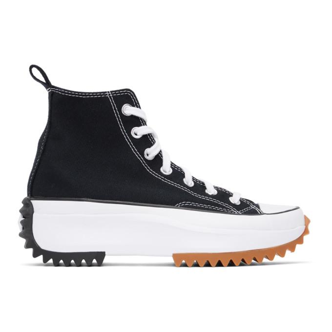 Converse Chuck Taylor All Star Run Star Hike High Top Platform Sneaker In Black/white/gum | ModeSens