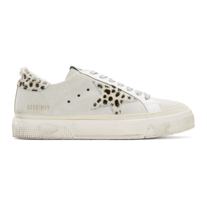 golden goose white may sneakers