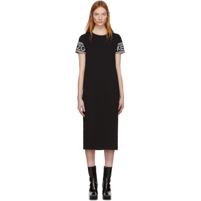 Kenzo Black Midi Sport T-shirt Dress