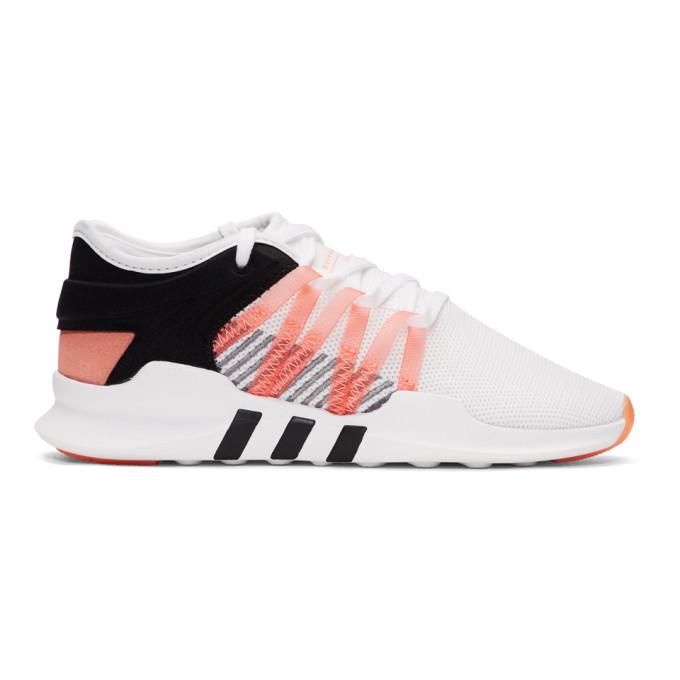 adidas Originals White and Black QT Racing Adv Sneakers