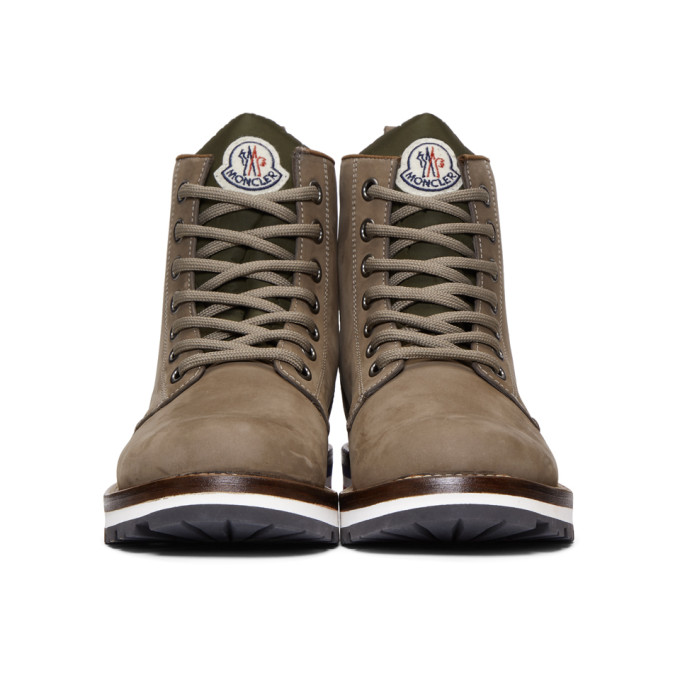 In New Grey Moncler Brown Boots Suede Vancouver FK3c1JuTl