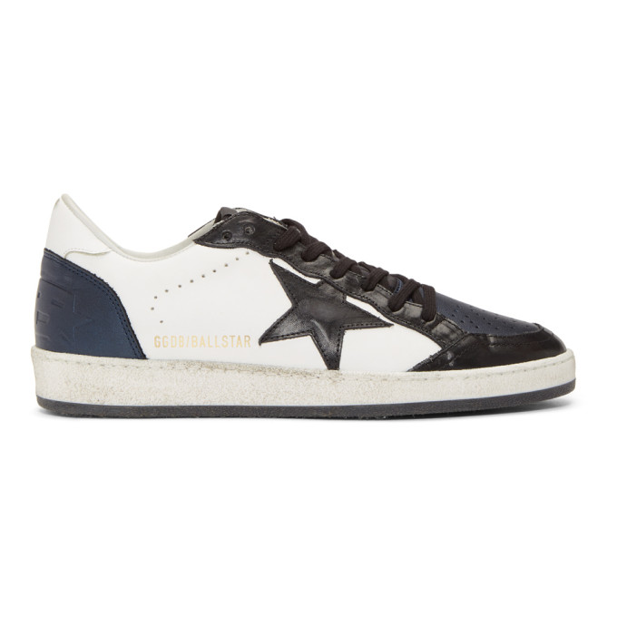 Golden Goose Blue and Black Ball Star Sneakers