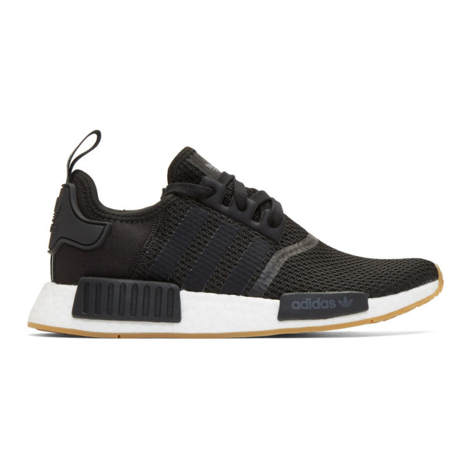 Adidas Originals Black Nmd R1 Boost Sneakers, CoreblkBlk