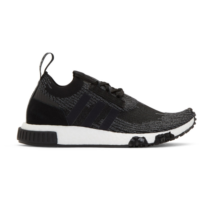 adidas Originals Black and Grey NMD Racer PK Sneakers
