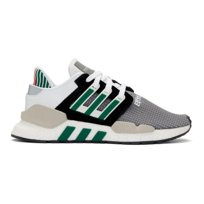 Most Comfortable Boost Sneaker? Adidas EQT Support 9118 (Core Black, Clear Granite + Sub Green)