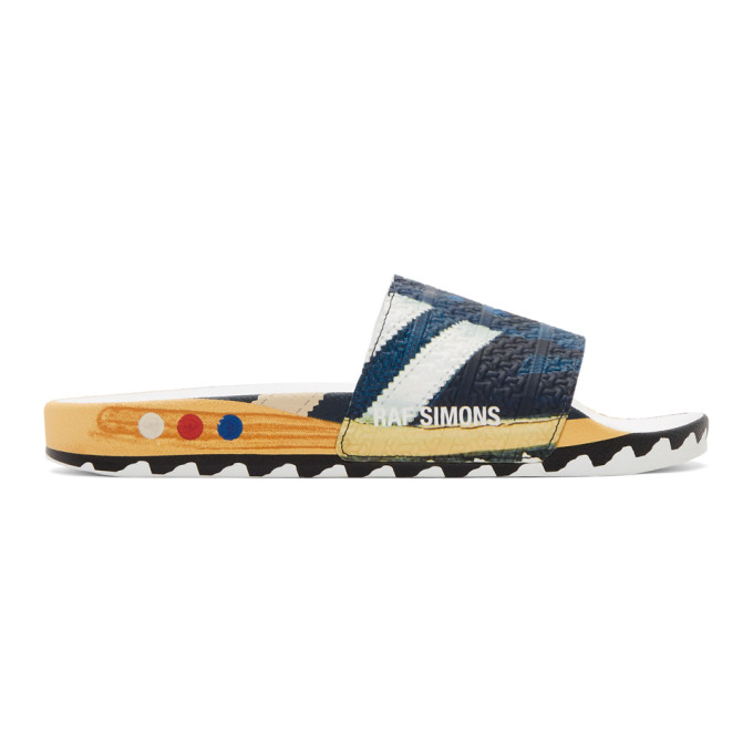 Raf Simons Navy adidas Originals Edition LA Adilette Slides