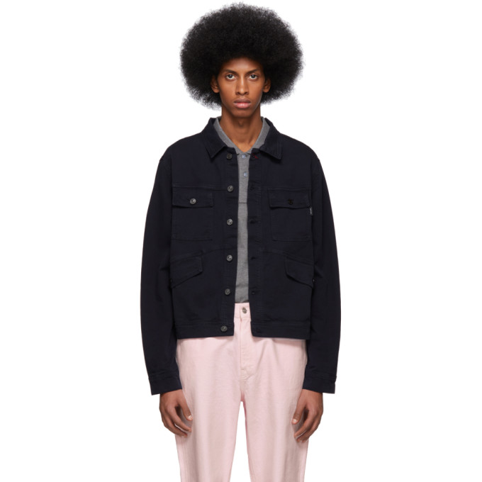 PS by Paul Smith Navy Four Pocket Work Jacket 191422M18001201