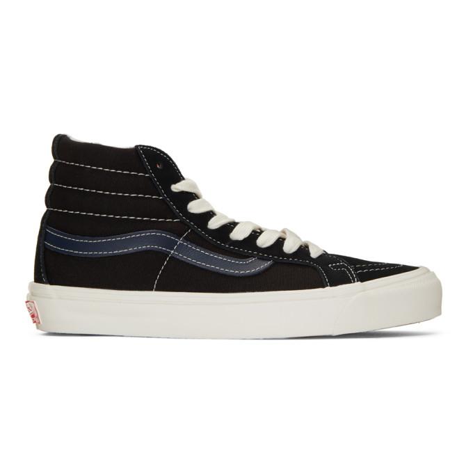 Vans Black and Blue OG Sk8 Hi LX Sneakers 191739F12701204