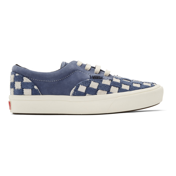 Vans Navy and Off White Checkerboard ComfyCush Era Sneakers