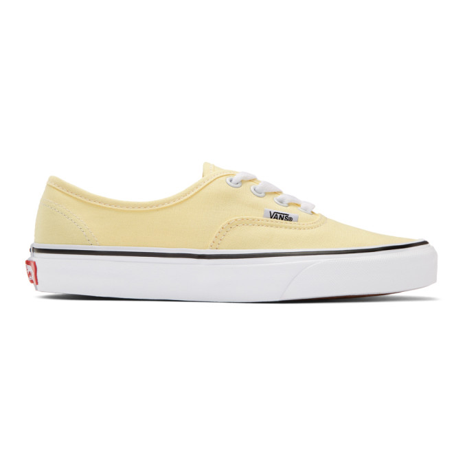 Vans Yellow OG Authentic LX Sneakers 191739M23709603