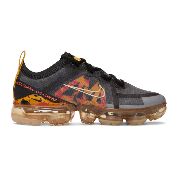 Nike Black and Yellow Air Vapormax 2019 Sneakers 192011F12803108