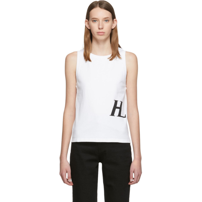 Helmut Lang White Femme Muscle Tank Top 192154F11100304