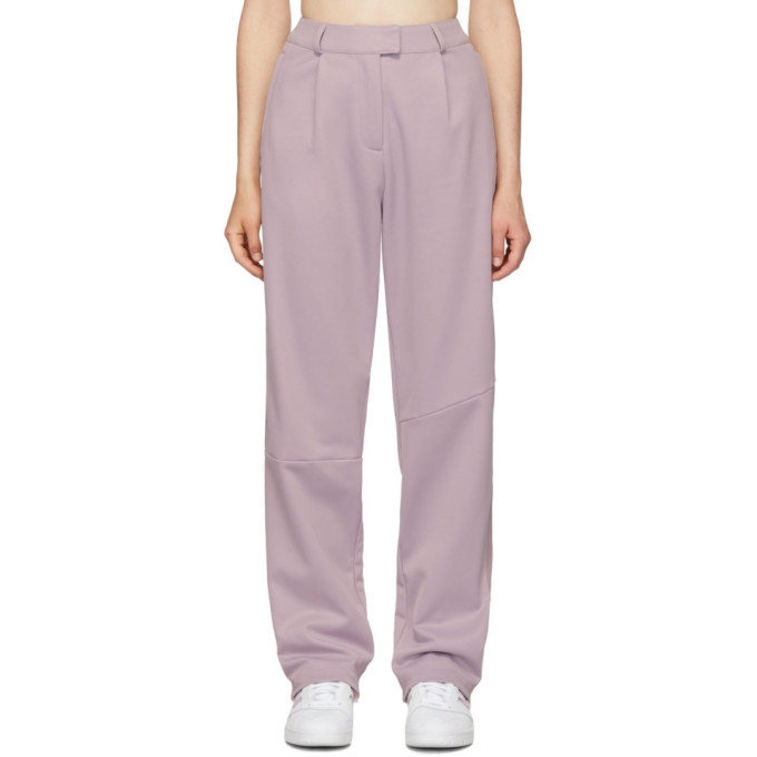 Adidas Originals By Danielle Cathari Purple Pique Trousers in A32S Soft V