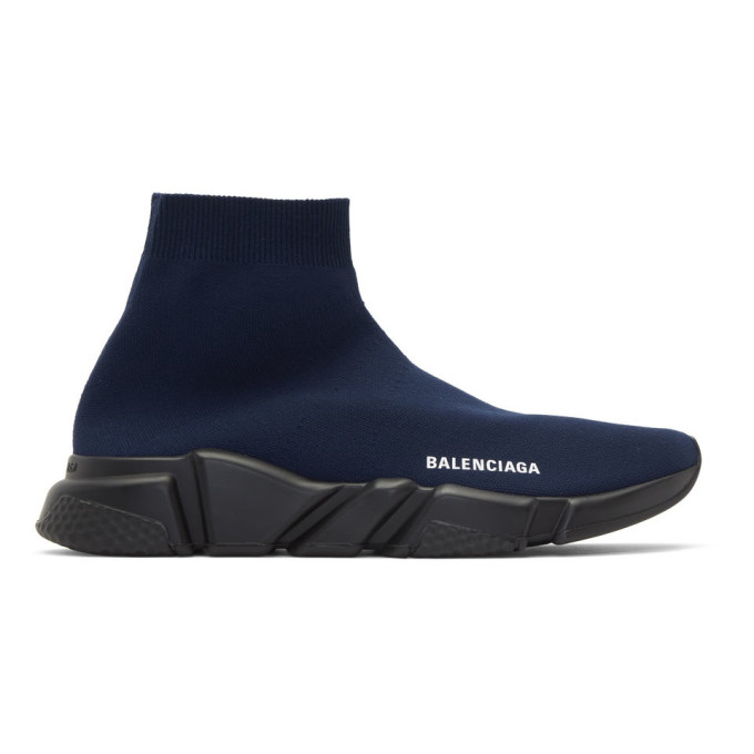 Rabatt Balenciaga Blau Speed Trainer Kinder Sneaker mit