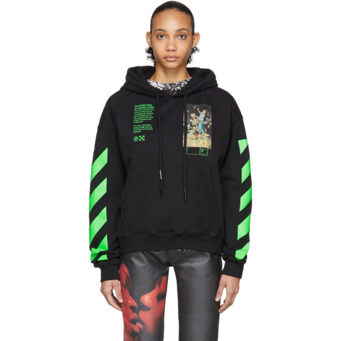 Off white Black Pascal Painting Hoodie In Black Multi