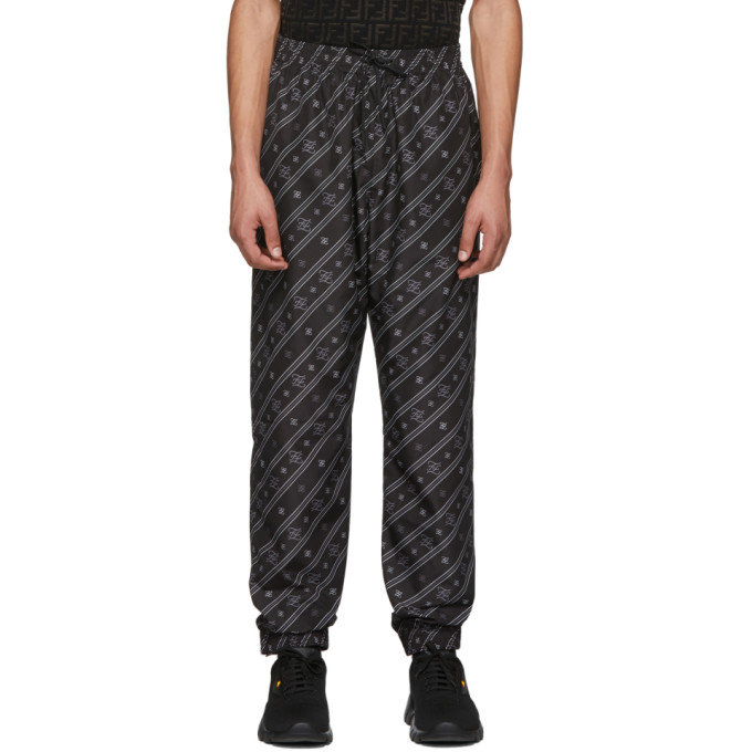 Karligraphy Ff print Technical Track Pants In F1a5s Black