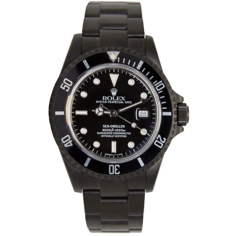 black limited edition matte black limited edition rolex sea black limited edition matte black limited edition rolex sea dweller watch ssense