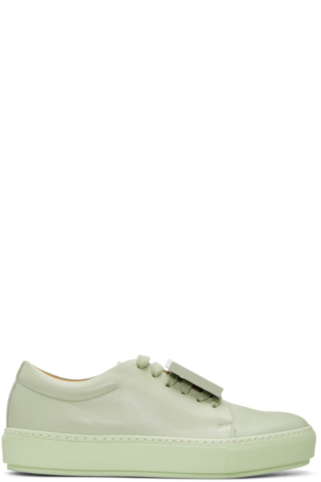 26ffda5674b Acne Studios Green Adriana TurnUp Sneakers from SSENSE - Styhunt