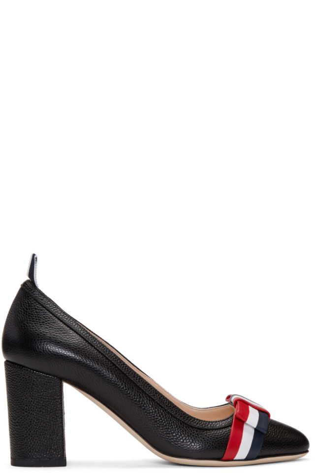 Givenchy Black Wholecut Bow Heels