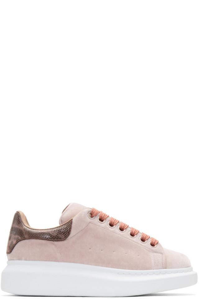 Pink Oversized Sneakers Alexander McQueen