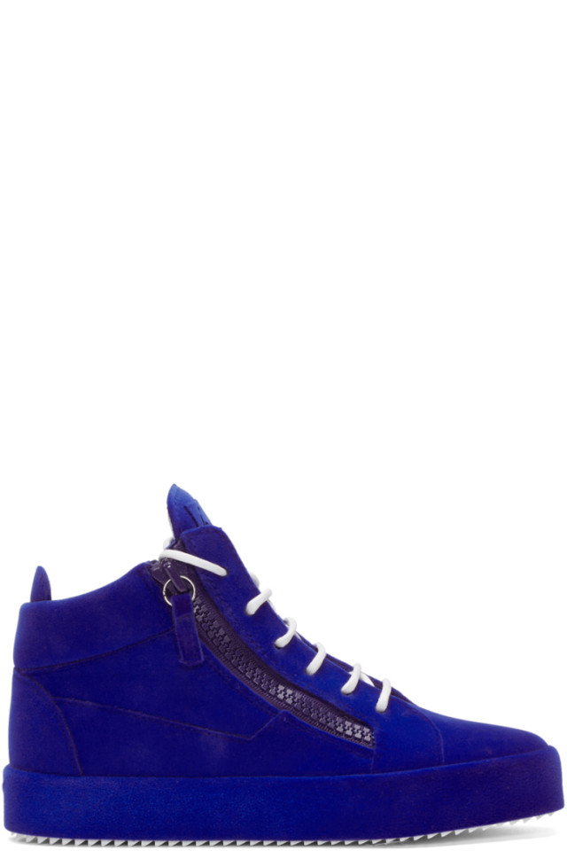 Pink Flocked May London High-Top Sneakers Giuseppe Zanotti