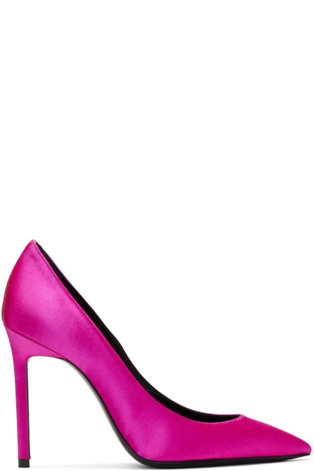 saint laurent pink heels