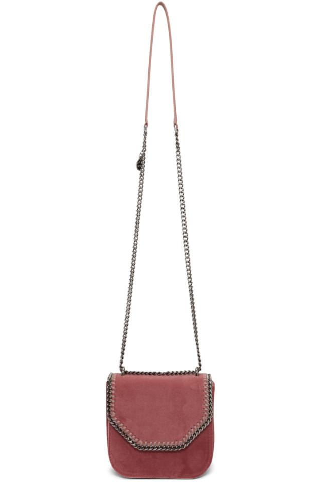 b42220f25276 Stella McCartney Pink Mini Velvet Falabella Box Bag