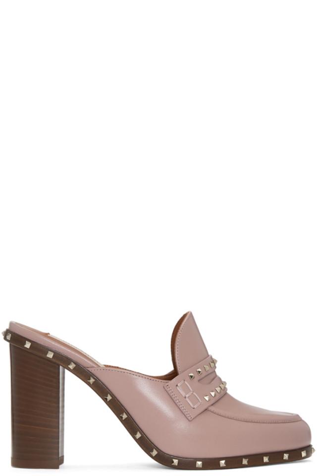 429bb809927 Valentino Pink Valentino Garavani Soul Rockstud Loafer Mules from ...