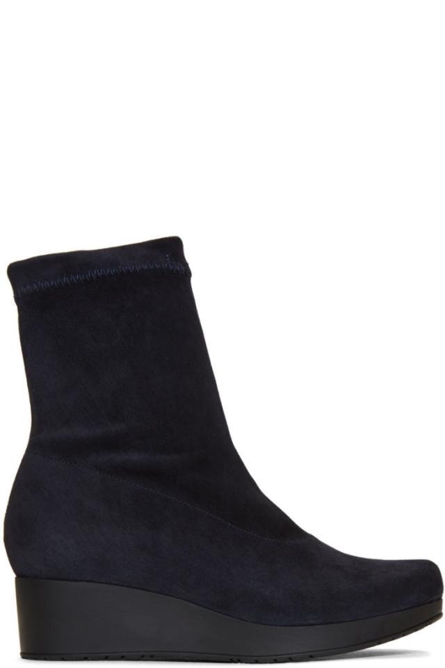 Robert Clergerie Navy Nerdal Boots