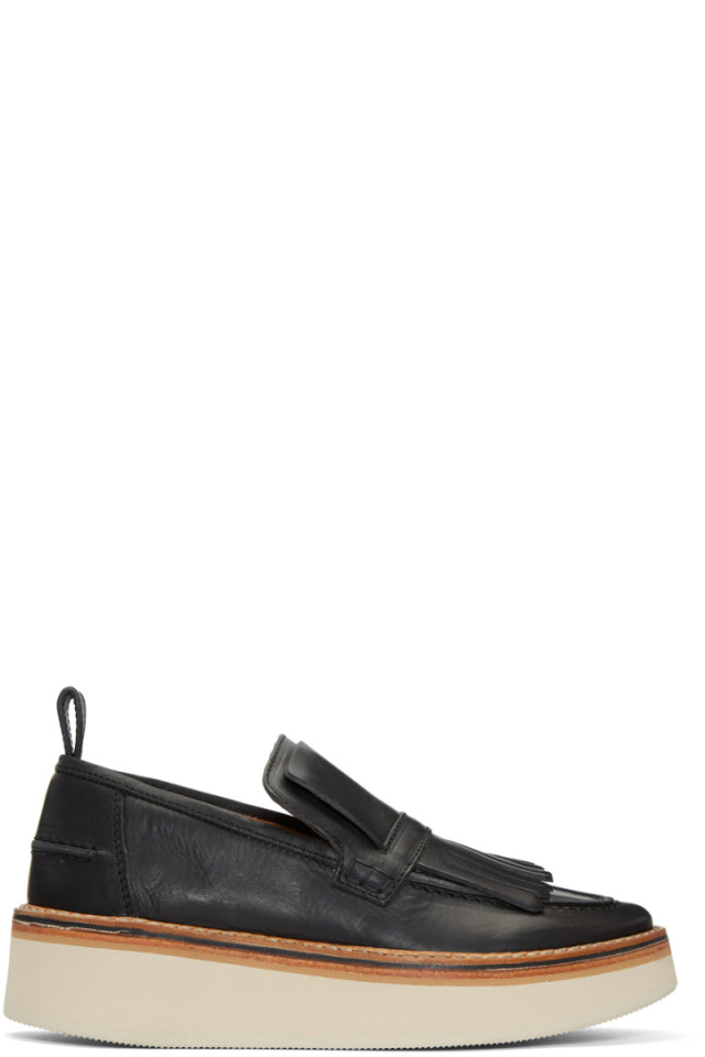 Black Trianon Platform Loafers Flamingos