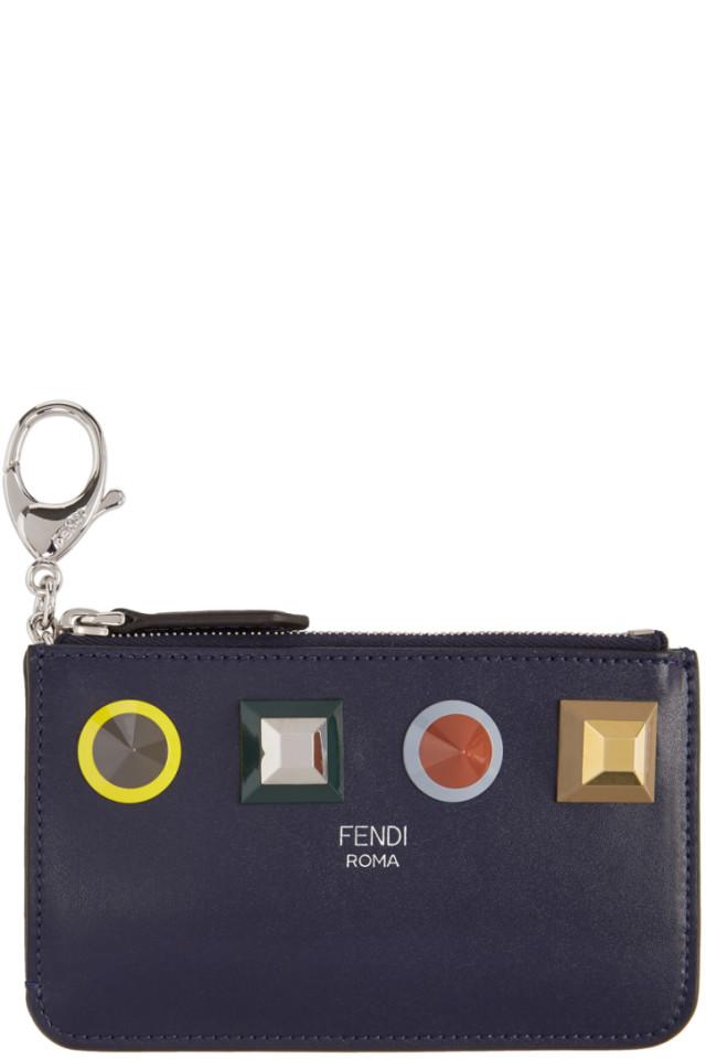 fc0fb9bc68 Fendi Blue Rainbow Coin Pouch from SSENSE - Styhunt